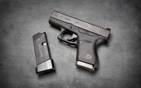 Wallpaper Austrian, Glock 43, self-loading, gun