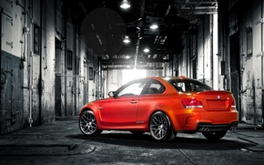Picture red, BMW, the trunk, red, the barn, warehouse, e82, trunk
