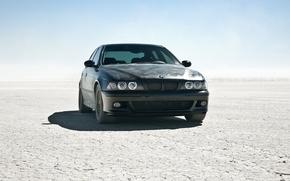 Picture the sun, desert, BMW, BMW, car, black car, m5 e39, cool