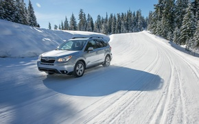 Picture Subaru, Snow, Cars, Forester, Silver, 2016