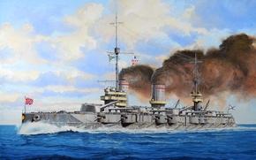 Picture ship, art, Navy, military, battleship, Russian, battleship, WW1, Gangut, Gangut