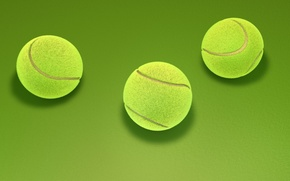 Picture abstraction, green, background, art, three, tennis, tennis, 3d., ball