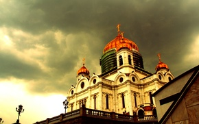 Picture overcast, Church, Moscow, temple, Graphiteseries, Kropotkin