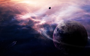 Picture lights, stars, planets, asteroids, sci fi