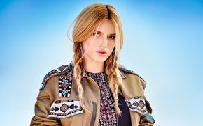Wallpaper Bella Thorne, Bella Thorne, blonde, Seventeen, actress, Eric Ray Davidson, outfit, decoration, hairstyle, makeup, braids, ...