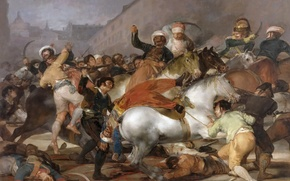 Picture picture, battle genre, Francisco Goya, Battle with the Mamelukes, The uprising of 2 may 1808