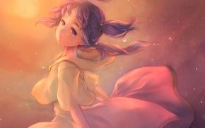 Wallpaper girl, anime, tears, art, piyo7piyo9, hyuu, mogumi, popolocrois