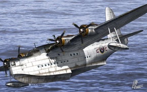 Picture flight, time, the plane, the ocean, war, art, BBC, military, British, was, one, amphibian, WW2., …