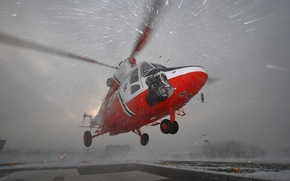 Wallpaper the rise, helicopter, snow