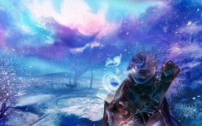 Picture winter, magic, people, fantazi
