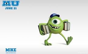 Picture pixar, Mike Monster, Monster University, monsters University, Mike Wazowski