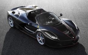 Picture Ferrari, Black, new, Spider, LaFerrari