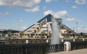 Picture the building, Pyramid, architecture, Kazan