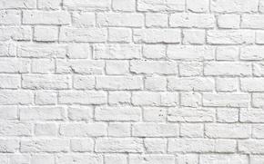 Picture brick, white brick, wall of bricks