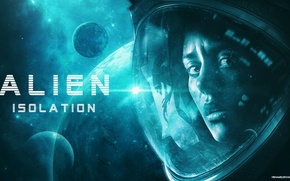 Wallpaper the game, the suit, girl, picture, Alien isolation, space, by hshamsi
