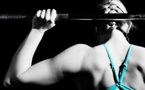 Wallpaper fitness, gym, metal, back