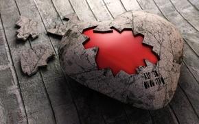 Picture heart, Board, cork