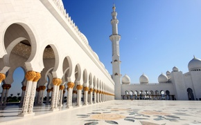 Picture gold, the building, tower, temple, arch, dome, Mosque, temple