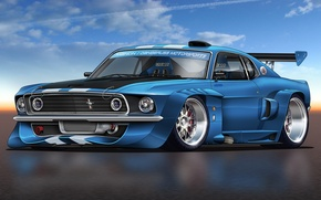 Picture car, Mustang, Eleanor, muscle