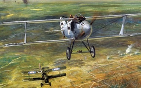 Picture figure, fighter, the Germans, dogfight, the first world, junk, биплан aircraft company L. F. G. …