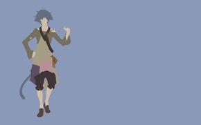 Picture monkey, minimalism, anime, tail, man, boy, assassin, hero, asian, warrior, manga, japanese, oriental, asiatic, yuusha, …