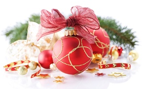 Wallpaper toy, Christmas, holiday, ball, winter