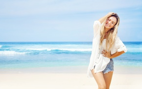 Picture sea, summer, girl, smile