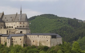 Picture Castle, Vianden, Luxembourg, Middle Age, stronghold, Native dual monitors