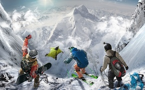 Picture Mountains, Snow, Ubisoft, Game, Steep