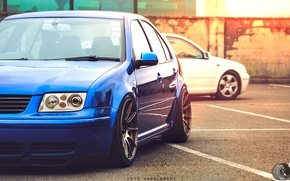 Picture lights, tuning, Volkswagen, Jetta, Car, drives, Blue, Wheels, Bora, rim, Eric Wroblewski, JDM Style, XXR, …