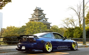 Picture Machine, Tuning, Blue, Nissan, Nissan, Car, Tuning, JDM, RPS13
