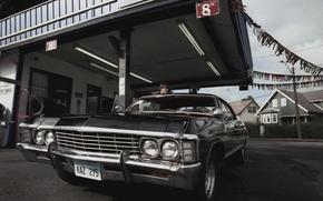 Picture Chevrolet, The series, Car, Actor, Supernatural, Supernatural, 1967, Impala, Jared Padalecki