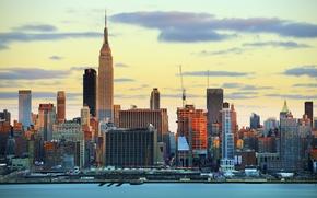 Picture sunset, skyscraper, home, New York, USA, Manhattan