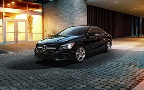 Picture black, mercedes benz, cla