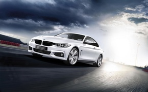 Picture BMW, BMW, white, 2015, 4-Series, F36