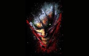 Picture look, smile, teeth, Clown, grin, evil