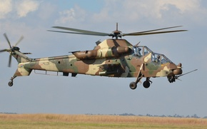 Picture helicopter, South Africa, Top speed 309 km / h, Denel AH-2 Rooivalk, Missile: 8-16 antitank …