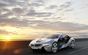 Picture the sky, sunset, bmw, BMW, concept, the concept, ай8