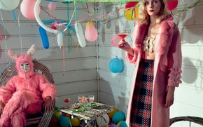 Picture balls, Jessica Stem, 2015, birthday, Numero, drink, Jessica Stam