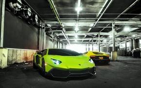Picture Lamborghini, Green, Yellow, Aventador, LP720-4, 50 Anniversario Edition