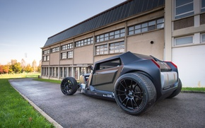 Picture lawn, the building, track, rear view, hot rod, eight, Balon, sbarro