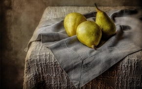 Picture table, fruit, still life, pear