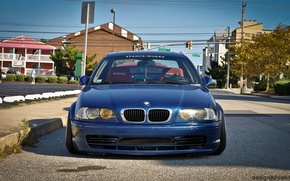 Picture BMW, BMW, tuning, E46, stance, stance works, blue