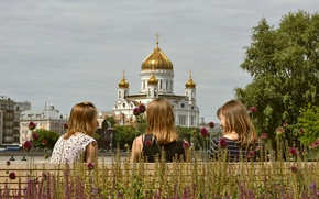 Picture girls, Park, friend, communication, HHS, the Church of Christ, Krymskiy Val, Museon