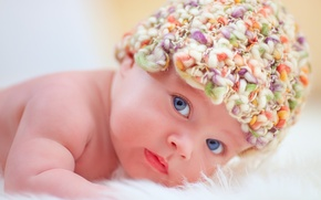 Picture face, child, baby, child, newborn