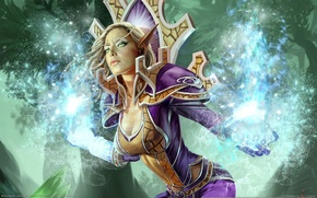 Picture girl, magic, elf, elf, world of warcraft, trading card game
