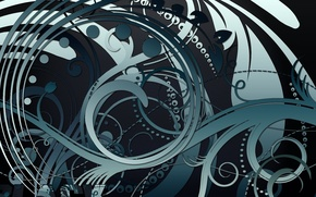 Picture white, abstraction, blue, pattern, black