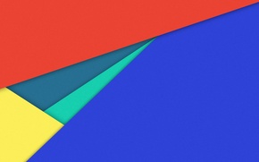 Picture line, blue, yellow, red, geometry, material