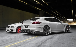 Picture tuning, bmw, Porsche, Panamera, the tunnel, Porsche, vorsteiner