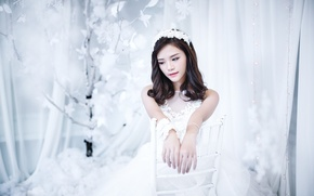 Wallpaper girl, holiday, the bride